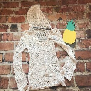 NWT ROXY Knit Hooded Sweater